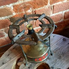 Upcycled Governor Stove Lamp  http://www.upcycledcreative.co.uk/buysomething/upcycled-governor-stove-lamp