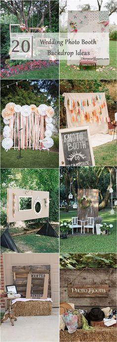 Wedding photo booth backdrop ideas / http://www.deerpearlflowers.com/brilliant-wedding-photo-booth-ideas/