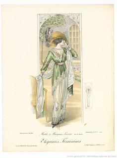 From Élégances féminines. Revue mensuelle de la grande couture parisienne 1912. Dress by Margaine Lacroix