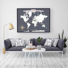 Push Pin Travel Map World Travels Map Map Art World by PaperRamma