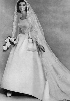 1963 bride- lovely veil   and actually 19046e4a8b19