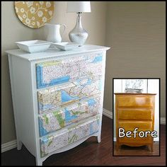 Cowie's Craft And Cooking Corner: Map Dresser