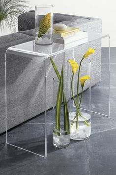 Clear Acrylic Console Table on HauteLook