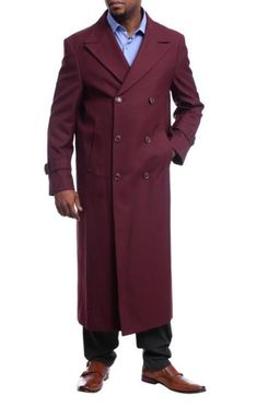 This item is ideal for weddings, proms, black tie, business and other formal events. Topcoat Men, Double Breasted Trench Coat, Top Coat, Black Tie, Black Diamond, Color Red, Burgundy, Suit Jacket, Wool