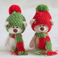 Amigurumi Christmas bears. (Crochet toy inspiration).
