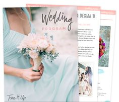 Revamped Wedding Program to get ready for your big day!