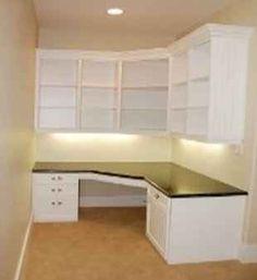 built in desk/storage