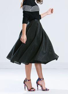 Lattice Rejoice Full A-Line Skirt