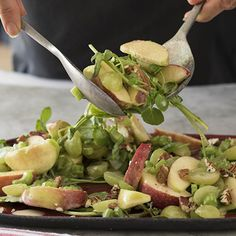 One of my absolute favourite salads! Delicious and super healthy. Nut Recipes, Light Recipes, Salad Recipes, Cooking Recipes, Celery Salad, Cooking Classes, I Foods, Family Meals, Entrees