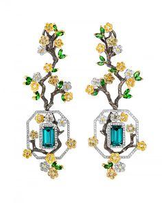 Caratell : Garden indicolite earrings