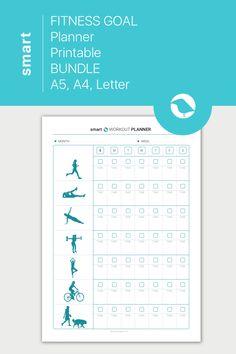 Health Planner, Fitness Planner, Fitness Goals, Printable Planner, Planner Stickers, Printables, Health Goals, Health Fitness, Workout Log