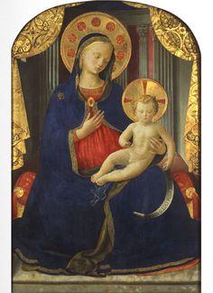 BEATO ANGELICO - Madonna con bambino - Galleria Sabauda, Torino
