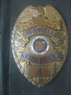 LOS ANGELES POLICE DEPARTMENT AERO Police BADGE LAPD Inspector