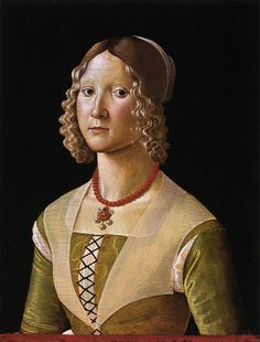 GHIRLANDAIO, Davide Portrait of Selvaggia Sassetti c. 1490 by fionasfancies, via Flickr