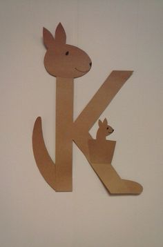 K is for Kangaroo: Preschool Alphabet Letter Preschool Letter Crafts, Alphabet Letter Crafts, Abc Crafts, Preschool Projects, Alphabet For Kids, Alphabet Activities, Preschool Activities, Craft Letters, Alphabet Book