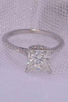 Engagement ring  Princess cut #Gorgeous