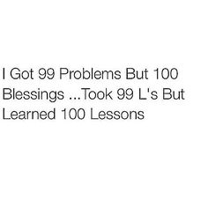 took 99 L's but learned 100 lessons