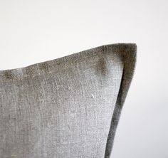 linen pillow cover - gray