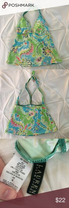 Ralph Lauren bathing suit top Super cute tankini top with original padding!! Slightly faded from original colors but still very bright and fun, overall very good condition Lauren Ralph Lauren Swim