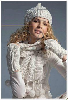 Шапка шарф варежки спицами. Зимний комплект спицами схема описание | Домоводство для всей семьи