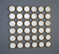 Interlude Mila Circle Mirrors. Bringing texture and fun to any space, the Mila Circle Mirror delivers a pop of eye-catching energy. – Modish Store