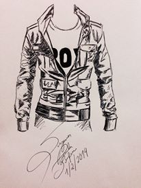 Jacket fashion spherographic handmade design BY me 2014. Suzanna Paulla Bomfim design clothes styling fashion men