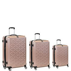 Luggage Sets Collections | ful Sunglasses 3 Piece Spinner Luggage Set Gold ** Be sure to check out this awesome product. Note:It is Affiliate Link to Amazon. #commentplease