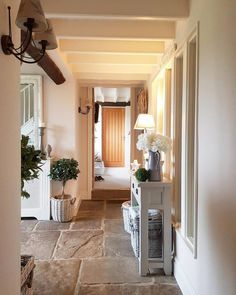 Hallway in a converted barn. cosy Welcoming My home. Hallway in a converted barn. cosy Welcoming My home. Country Hallway, House Stairs, Converted Barn, House Entrance, Cottage Interiors, Cottage Hallway, Barn Interior, Hall Flooring, Hallway Designs