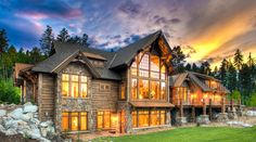 Western Rustic Timber Montana home by Stillwater Architecture