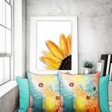 Pillow, Square, Dandelions Design