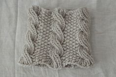 Big thick cabled handknit cowl in soft by GrisHandknits