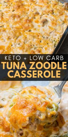 No carb diets 556827941429302574 - This Keto Tuna Zoodle Casserole is the perfect low carb comfort food! This dish is only net carbs and packed with zucchini noodles, a creamy cheese sauce and chunks of tuna. Source by maebellsa Low Carb Dinner Recipes, Diet Recipes, Cooking Recipes, Healthy Recipes, Slimfast Recipes, Keto Dinner, Lunch Recipes, Yogurt Recipes, Vegetarian Cooking