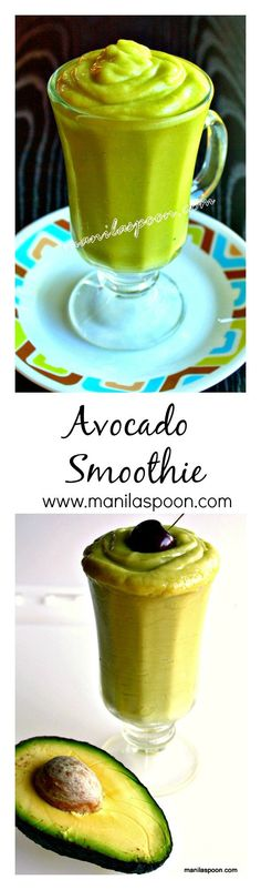 so I grew up having this velvety smooth and yummy Avocado Smoothie. It's truly good and quite healthy, too! #avocado #smoothie #shake