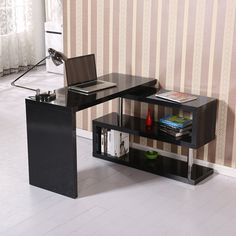 This fantastic desk is made of MDF board and stainless steel. It is hard-wearing and durable with an elegant design making it a stunning addition is made to your home or office. There is enough layer storage space for placing book... Free shipping on orders over $35.