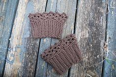 Ravelry: Lace Boot Cuff pattern by Kitty Adventures