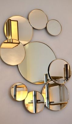 With these expensive mirrors, you'll get an effortlessly modern and chic interior design Flur Design, Wall Design, Black Bathroom Mirrors, Wall Mirrors, Mirror Mirror, Gold Ornate Mirror, Decor Interior Design, Interior Decorating, Spiegel Design