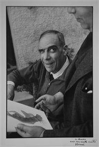Henri Laurens and Teriade, St. Jean Cap Ferrat by Henri Cartier-Bresson
