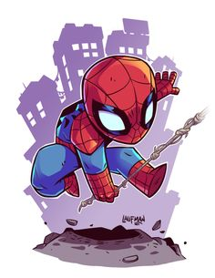#Spiderman #Fan #Art. (Chibi Spidey) By: Derek Laufman. (THE * 5 * STÅR * ÅWARD * OF: * AW YEAH, IT'S MAJOR ÅWESOMENESS!!!™) ÅÅÅ+