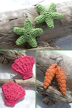 Ravelry: Seashore Earrings pattern by Susan Lowman  free