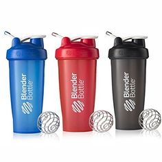 BlenderBottle 28oz Classic Loop Top Shaker Bottle 3-Pack, Full Color Blue/Black/Red * This is an Amazon Affiliate link. Check out the image by visiting the link.