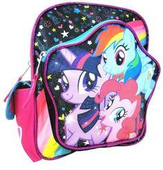 "My Little Pony Hasbro 10"" SMALL Toddler School Backpack book bag Rainbow Dash  #HasbroMyLittlePony #Backpack"