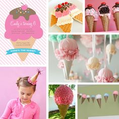 Ice Cream Cone Party Inspiration Board | Paperspice