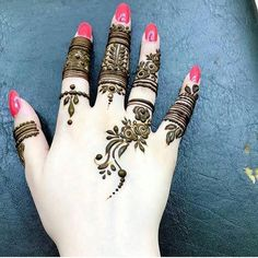 Most Beautiful Henna Designs 2019 Leg Henna Designs, Finger Henna Designs, Mehndi Designs For Girls, Mehndi Designs For Fingers, Wedding Mehndi Designs, Unique Mehndi Designs, Beautiful Henna Designs, Latest Mehndi Designs, Fingers Design