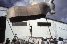 Alex Webb. BRAZIL. Parintins. 1993. Preparations for Boi-Bumba Festival.