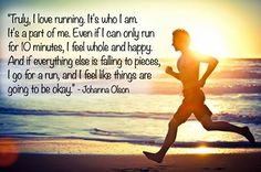 Truly love running, it is part of me as well