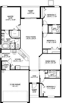 Amazing 4 bedroom Normandy floorplan!
