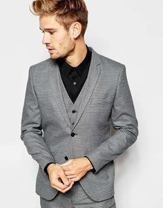 Selected+Homme+Dogtooth+Suit+Jacket+in+Skinny+Fit