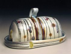 Joanna Powell, butter dish click now for info. Ceramic Tableware, Ceramic Pottery, Pottery Art, Slab Pottery, Pottery Ideas, Ceramic Bowls, Butter Bell, Butter Pasta, Butter Shrimp