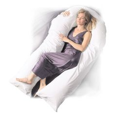 The Comfort U total body support pillow models itself to the shape of your body from head to toe. It can relieve pressure on body parts, machine washable, and hypoallergenic.