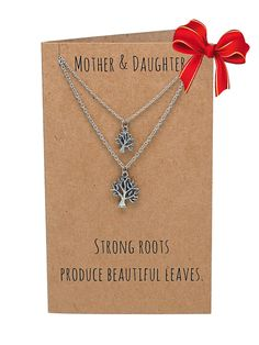 Ayiesha Tree of Life Necklace, Mother Daughter Jewelry, Silver - Quan Jewelry - 1